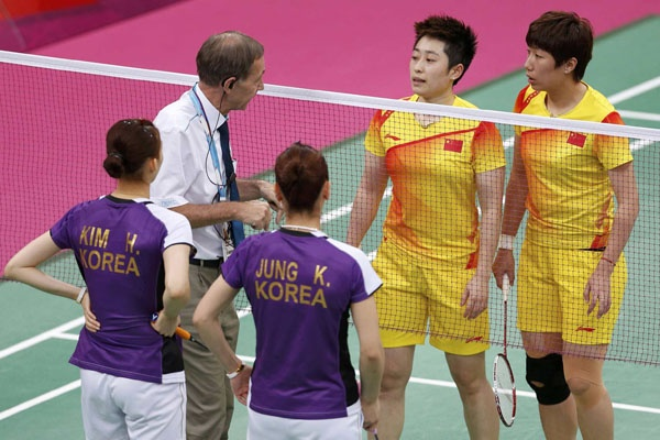 An Olympic-sized controversy: Eight badminton players were disqualified after attempting to throw their matches. http://ti.me/OC8I05