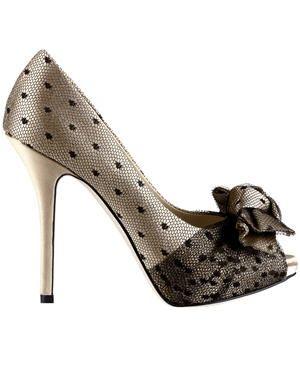 Escarpins en satin et tulle de Dior