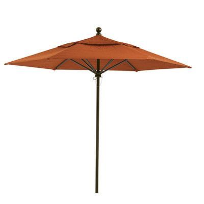 Tropitone Portofino 9' Market Umbrella Fabric: East Wood, Frame Finish: Moab, Opening Mechanism: Pulley