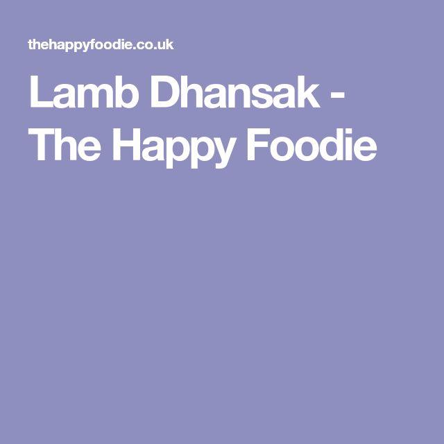 Lamb Dhansak - The Happy Foodie