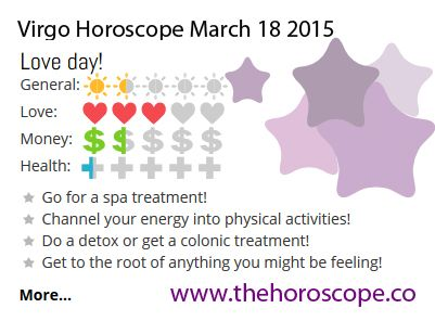 Love day for #Virgo on March 18th 2015 #horoscope ... http://www.thehoroscope.co/horoscope/Virgo-Horoscope-today-March-18-2015-2634.html