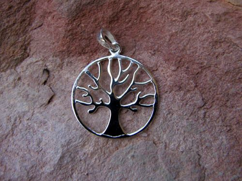 Sterling Silver Round Tree of Life Pendant from Sweet Sweet Silver, only $35.00.
