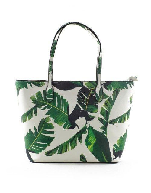 Τσάντα ώμου φύλλα - Λευκό 39,99 €