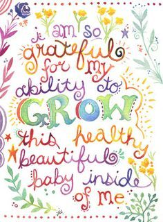 """5"""" x 7"""" Print - Pregnancy Maternity Affirmation Inspirational Quote on Etsy, $20.00"""
