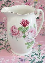 Pink Floral Pitcher