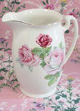Pink Floral Pitcher