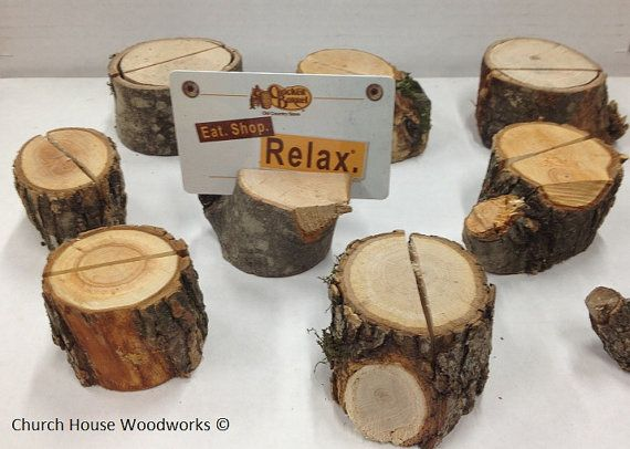 100 extra rustic place card holders tree by ChurchHouseWoodworks