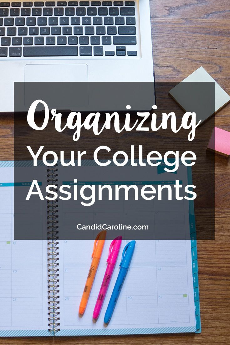 When you're taking a lot of college classes, it's hard to keep track of all your assignments and due dates. Learn how to keep them all organized!