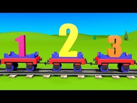 Le train Tchou-Tchou et la chanson des nombres. Dessin animé éducatif et interactif. Karaoké. - YouTube