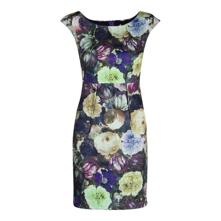 Multi Layla Floral Fitted Stretch Dress