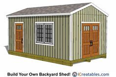 12x20 Large Storage Shed Plans.