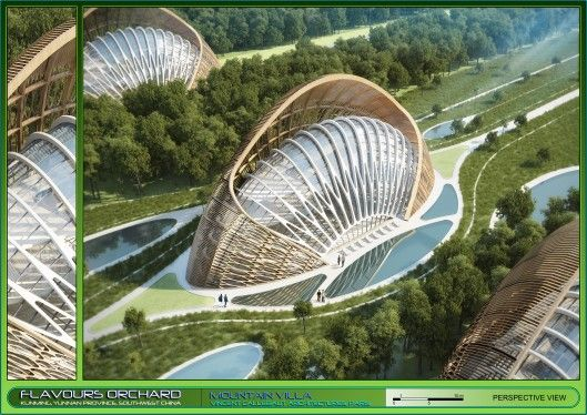 Mountain Villa main bird's eye view (Image: Vincent Callebaut Architectures)
