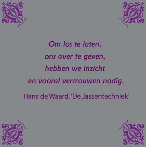Citaat uit 'De Jassentechniek, verlost van ballast zet je de Stap naar moeiteloos leven', Hans de Waard