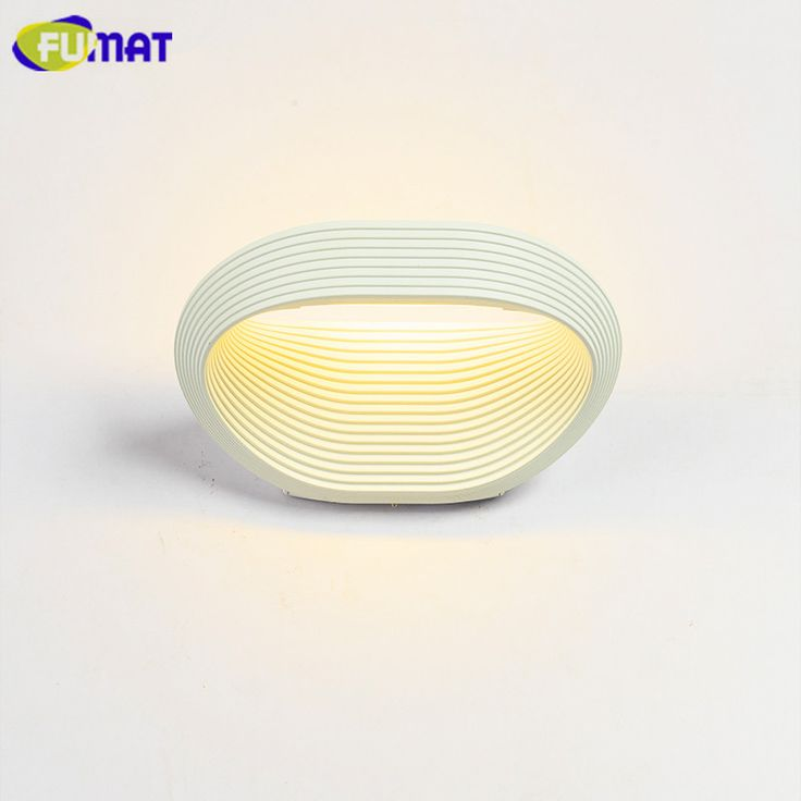 FUMAT Wall Lamps White Wave Pattern LED Wall Sconce Nordic Simple Mirror Front Light Bedroom Bedside Light Bathroom Wall Light #Affiliate