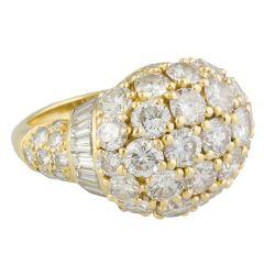 CARTIER Diamond Gold Dome Ring