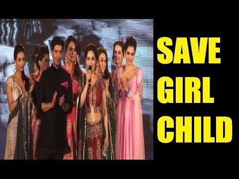 Madhuri Dixit's MOTIVATIONAL SPEECH on SAVE GIRL CHILD.