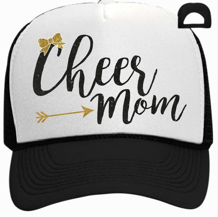 Cheer Mom with Arrow Trucker Hat