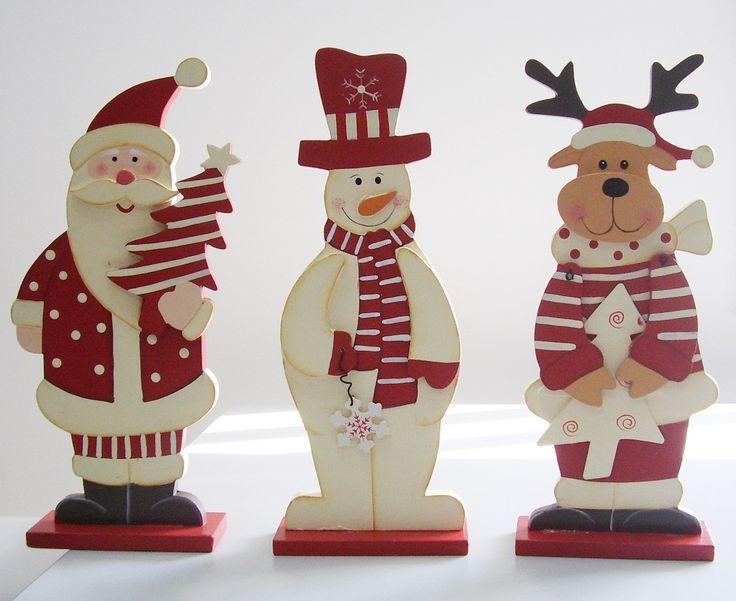 Christmas Santa, Snowman & Reindeer Wood Crafts