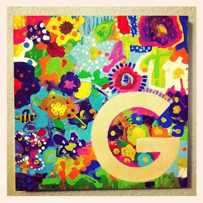 Kiddie Painted Canvas. Easy gift kids can make.: Sandy Then, Mothers Day, Gifts Ideas, Gifts Kids, Paintings Canvas, Kiddie Paintings, Popsicles Blog, Art Gifts, Painted Canvas