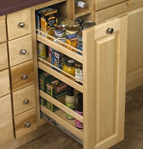Kitchen Cabinet Inside: Pull Out Pantry Cabinet