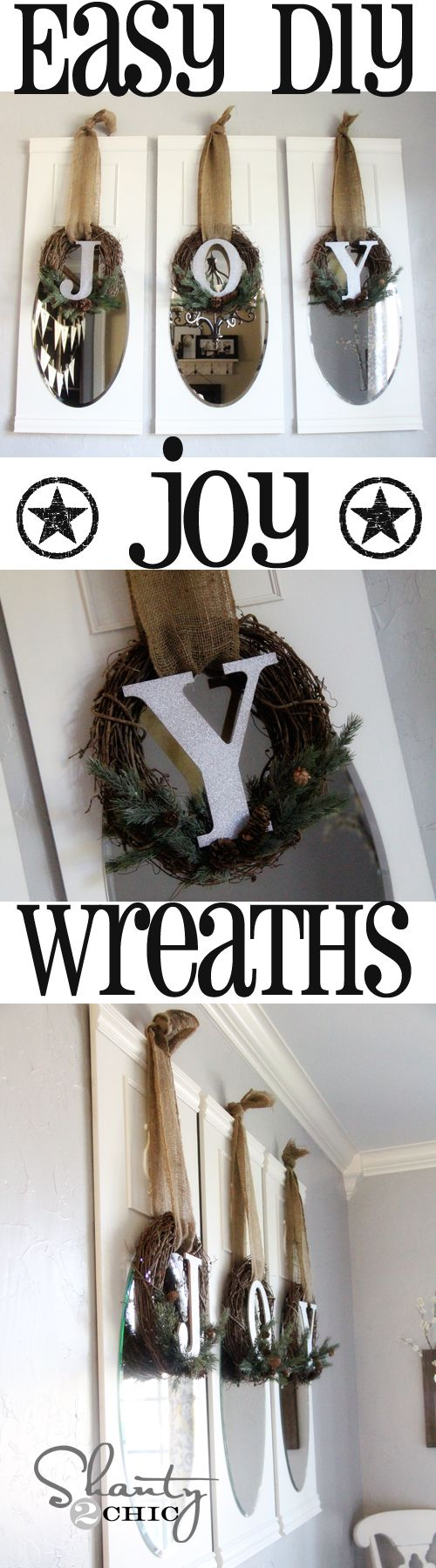 Easy DIY #Christmas Wreaths from Shanty-2-Chic.com // Great for any room!!