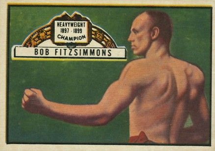 1951 Topps Ringside Boxing Bob Fitzsimmons #55 Boxing & Other Card