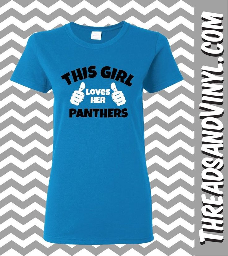 This Girl Loves Her Carolina Panthers (Great T-shirt For The Football Fans) #Gildan #GraphicTee