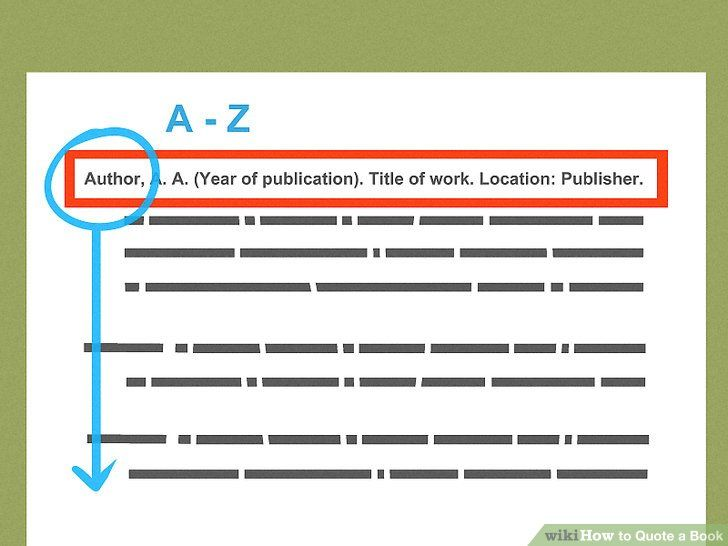 3 Ways To Quote A Book Wikihow Citing A Book Quote Book Titles Easy Essay