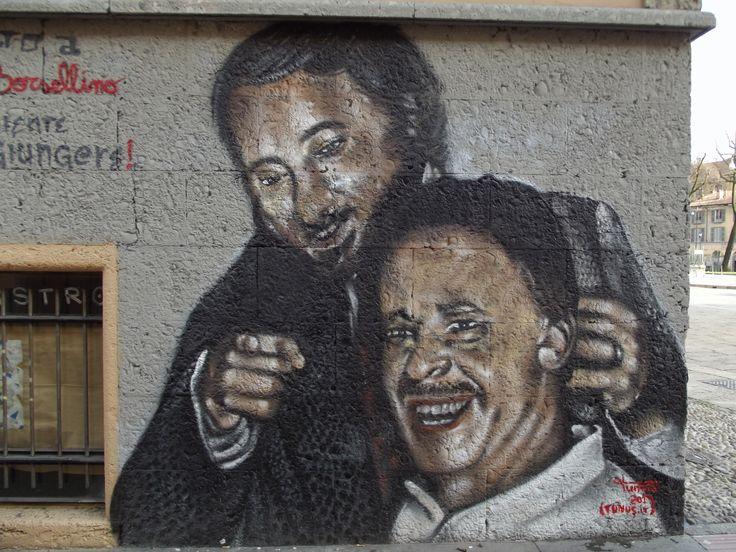 Falcone e Borsellino graffito