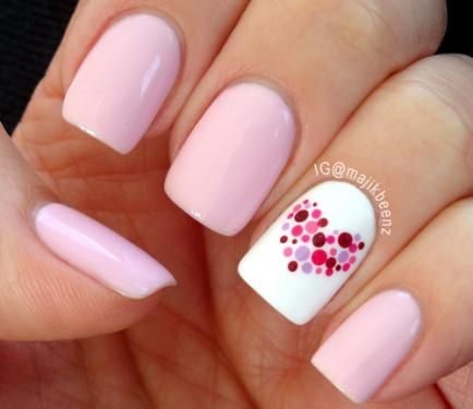 So cute -- Polka dots & a heart all in one!