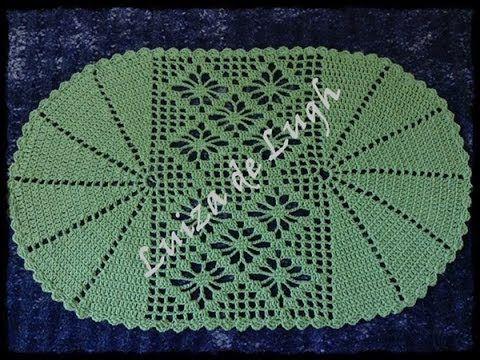 Para visualizar GRÁFICO e DESCRIÇÃO acesse http://crochepassoapassocomluizadelugh.blogspot.com.br/ Tapete Nível Fácil, sem emendas. Este tapete foi feito com...