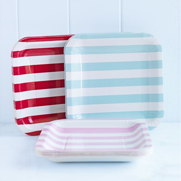 donna hay striped paper plates