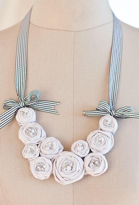 Rosette Bib Necklace