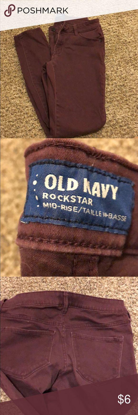 Old Navy maroon skinny jeans Maroon skinny jeans Super soft!  Size 4 Regular   Worn twice! Old Navy Jeans Skinny