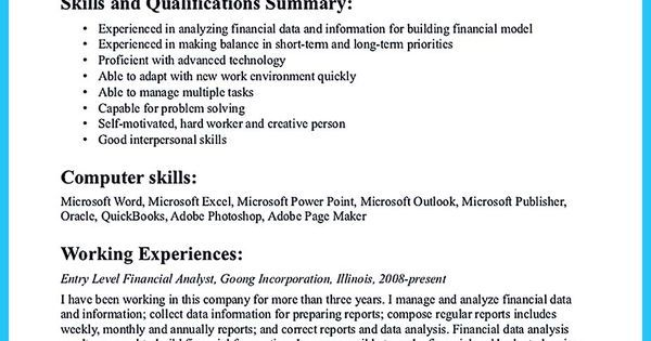 Awesome Ways to Impress Recruiters through Case Management Resume - financial data analysis