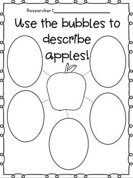 Graphic Organizers for writing about apples.