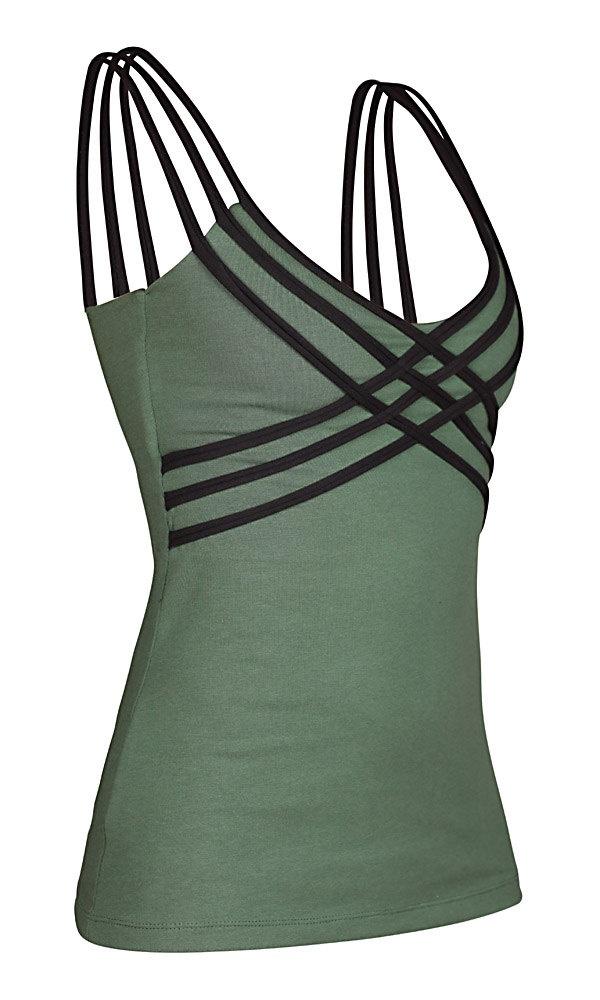 Womens Tank - Organic Cotton Tank - Yoga Top - Green Tank Top. $48.00, via Etsy.