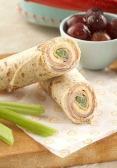 Cheesy Tortilla Roll-Up Snack – Perfect as an on-the-go snack that kids will enjoy, these roll-ups are filled with yummy goodness!