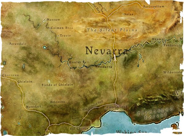 Dragon Age | RPG | Fantasy Map | To see the Nevarra RP forum, go here: http://chroniclesofthedas.draebox.com/forum-13.html | Nevarra is a nation in central Thedas, west of the Free Marches, south of the Tevinter Imperium and north-east of Orlais. It was originally one of the larger Free Marches city states, but has aggressively expanded over the last two centuries to become a power to rival Orlais.