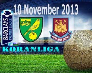 English Premier League Prediksi Skor Norwich vs West Ham 10 November 2013 - Jadwal berita Prediksi Skor Hasil Norwich vs West Ham 10 November 2013 BPL - Prediksi...