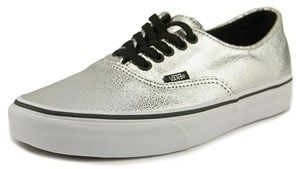 Vans Authentic Decon Women Round Toe Synthetic Silver Sneakers.