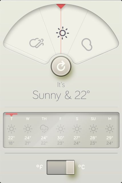 Cool weather app interface