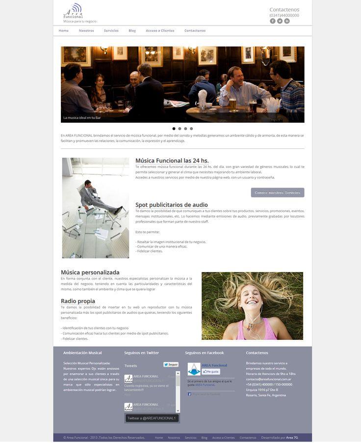 Diseño de Sitio Web de Area Funcional
