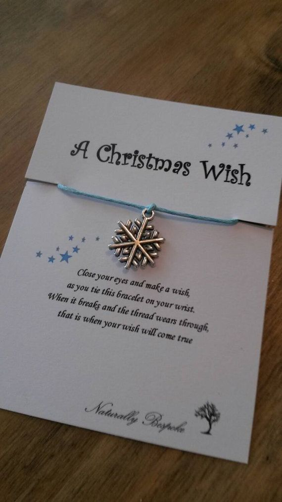 Christmas wish bracelet. Perfect stocking filler for your little ones. Or a great little token gift to say well dont for getting on the good