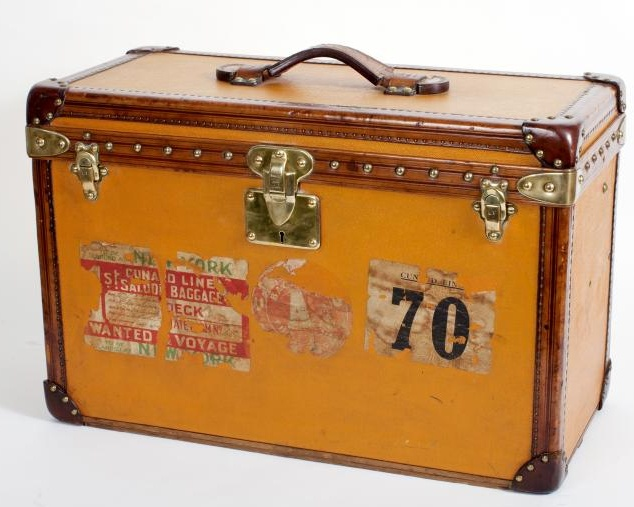 1920s Louis Vuitton Orange Vuittonite Train Case, £9,950.00  at Vintage Seekers.