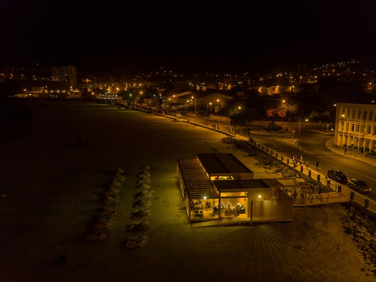 Kalimba Beach at night