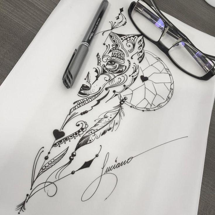 25+ Melhores Ideias Sobre Desenho De Tatuagem De Lobo No
