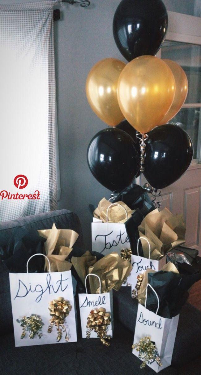 5 senses gift for my boyfriend's birthday!   Wedding anniversary ideas   Pinterest   Gifts, Birthday and Boyfriend gifts   5 senses gift for my bo…