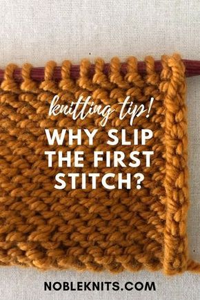 * Borda limpa e fácil. * Ao tricotar, por que escorregar o primeiro ponto? | Knitting Tip Nobl ...
