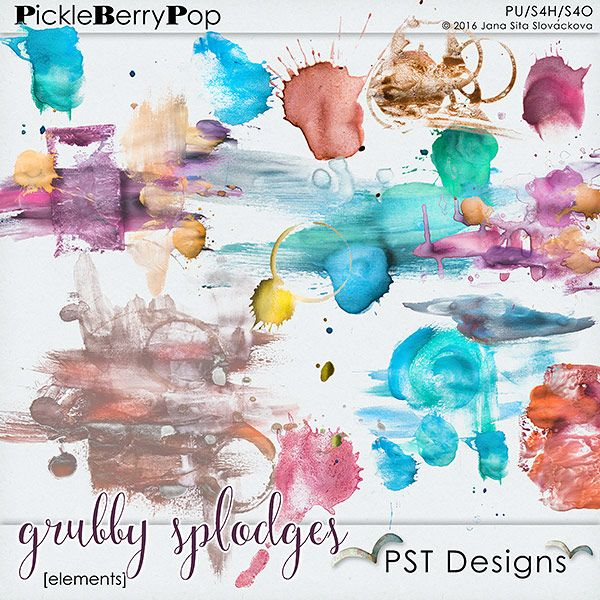 Grubby Splodges By PST Designs